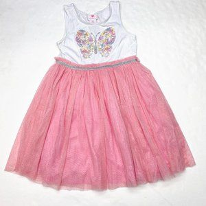 Lulurain Butterfly Sequins Tutu Tank Dress Sz 8